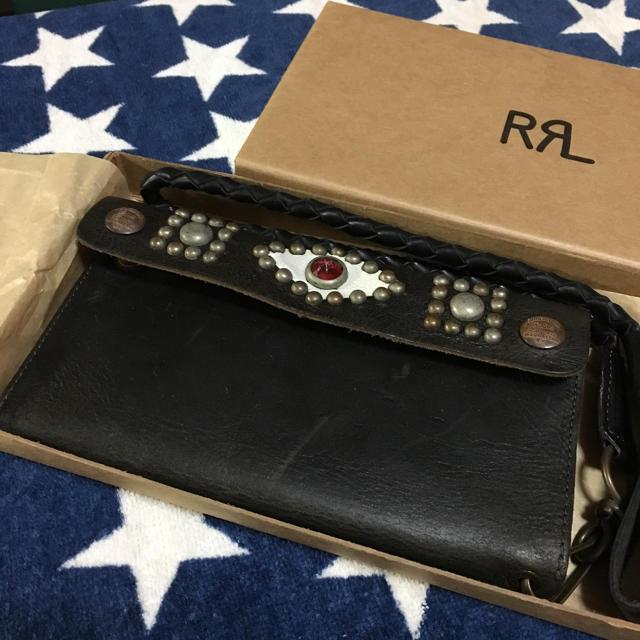 6f5779c98f01 RRL - RRL ダブルアールエル スタッズ 長財布 レザーウォレットの通販 by ...