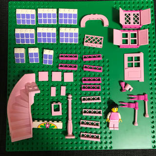 Lego - LEGO レゴ ピンクセット フィグ 階段 窓 ドア