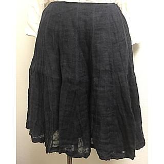 ラルフローレン(Ralph Lauren)のラルフローレン シワ加工フレアスカート(ひざ丈スカート)