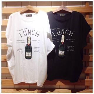 リベットアンドサージ(rivet & surge)の◎rivet&surge◎ シャンパン ビッグ Tシャツ ホワイト(Tシャツ(半袖/袖なし))