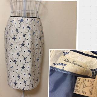 クリアインプレッション(CLEAR IMPRESSION)のクリアインプレッション 花柄レーススカート サイズM(ひざ丈スカート)