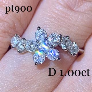 タサキ(TASAKI)のpt900 フラワーセッティングダイヤモンドリング 1.00ct 美品 11.5(リング(指輪))