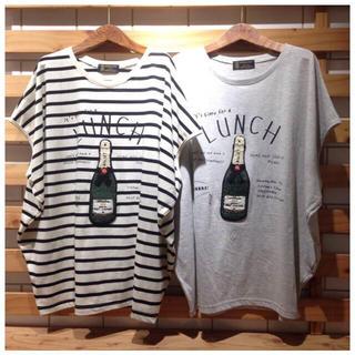 リベットアンドサージ(rivet & surge)の◎rivet&surge◎ シャンパン ビッグ Tシャツ ボーダー(Tシャツ(半袖/袖なし))
