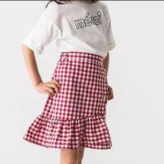 プティマイン(petit main)のプティマイン タグ付き新品 ギンガムチェック スカート(スカート)