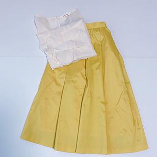 ドゥアルシーヴ(Doux archives)のひざ丈Aラインスカート、ノースリーブブラウスセット(セット/コーデ)