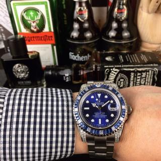 ROLEX - rolex メンズファッション 自動巻き ブルー 腕時計