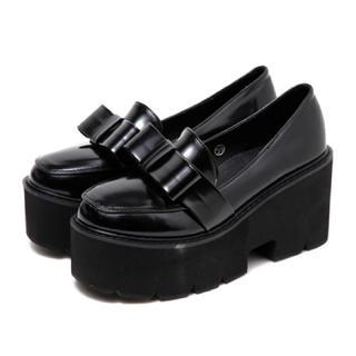 バブルス(Bubbles)のBUBBLES フロントリボンローファー (ローファー/革靴)