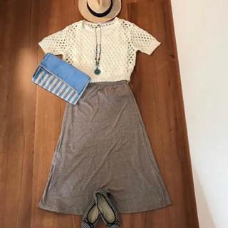 ジーユー(GU)の再値下げ‼️カワイイ新品 gu ジーユーロングスカート ベージュマキシスカートS(ロングスカート)