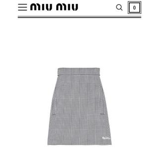 ミュウミュウ(miumiu)の新品 ミュウミュウ miu miu  ギンガムチェック スカート(ミニスカート)