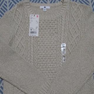 ユニクロ(UNIQLO)の140センチ UNIQLOケーブルクルーネックセーター(ニット)