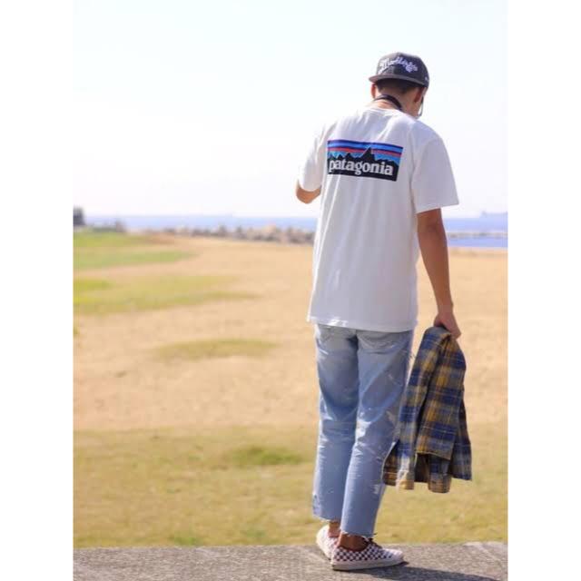 patagonia(パタゴニア)の値下げ★ パタゴニア P-6ロゴtシャツ 白 ホワイト s patagonia メンズのトップス(Tシャツ/カットソー(半袖/袖なし))の商品写真