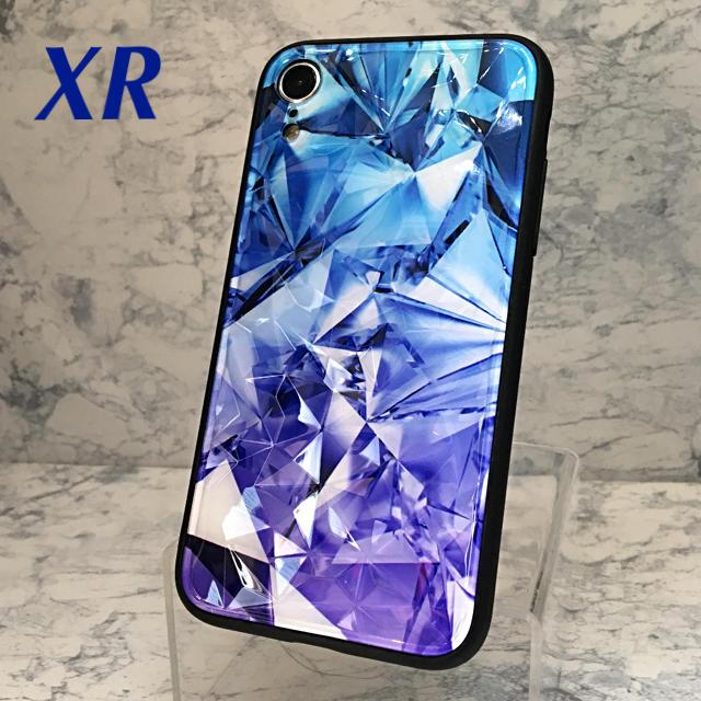 iphone7 ケース 冷却 | アイフォンXR iPhoneXRケース☆サファイアカラー☆クリスタル☆送料無料の通販 by ロゴ's shop|ラクマ