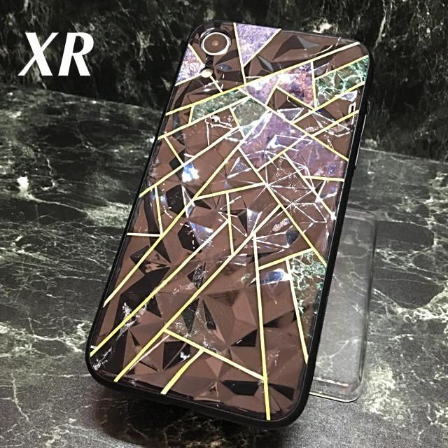 iphone 7 iphone ケース - アイフォンXR iPhoneXRケース☆ブラック☆クリスタル☆大理石調☆送料無料の通販 by ロゴ's shop|ラクマ