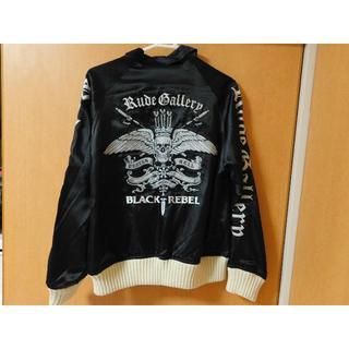 RUDE GALLERY - ルードギャラリー スカジャン ジャケット Mサイズ ブラック ルード