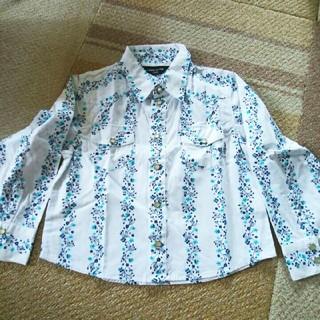 コムサイズム(COMME CA ISM)のCOMME CAISM(コムサイズム) 長袖シャツ 花柄 表示サイズ:100A(ブラウス)