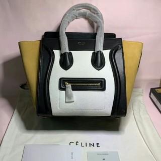 celine - Celine 黄色と黒と白  ハンドバッグ 26cm