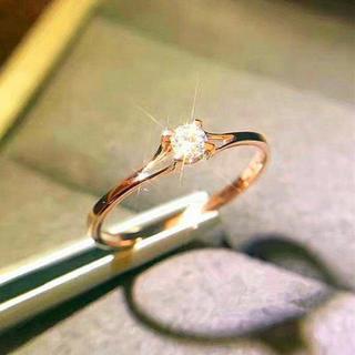 AAAランク ダイヤモンドcz リング 指輪 ピンクゴールド (リング(指輪))