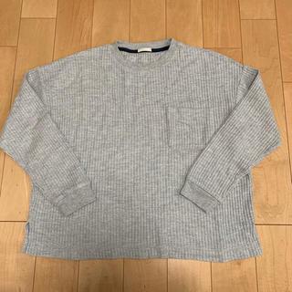 ジーユー(GU)の長袖Tシャツ グレー 無地 GU(Tシャツ(長袖/七分))