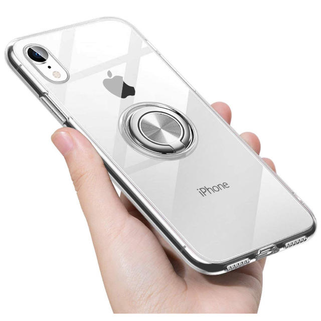 iPhone XR ケース リング 透明 クリア リング付き tpu シリコン の通販 by 千屋|ラクマ