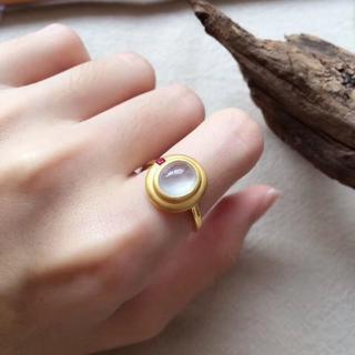 193 k18ゴールドリング 翡翠リング ダイヤモンドリング 指輪 ピンクゴー(リング(指輪))
