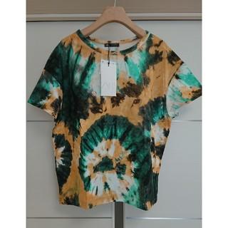 ザラ(ZARA)のZARA ザラ タイダイ クルーネック プリント Tシャツ 半袖(Tシャツ(半袖/袖なし))
