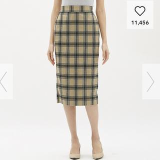 ジーユー(GU)のGU チェックナローミディスカート(ひざ丈スカート)