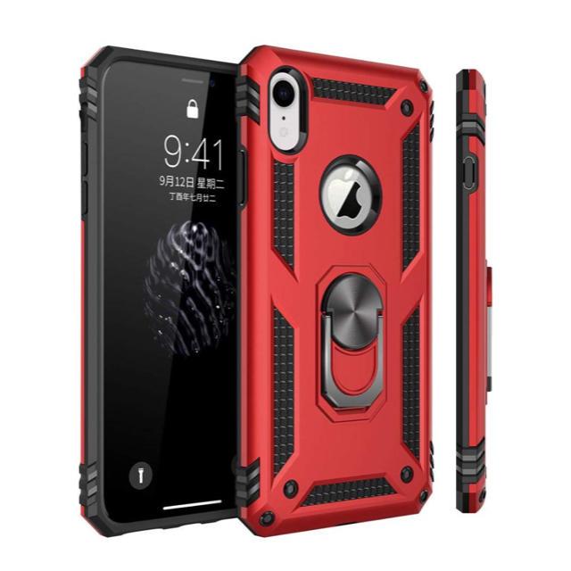 iPhone XR ケース リング 対応 落下衝撃吸収 ストラップホール TPUの通販 by 千屋|ラクマ