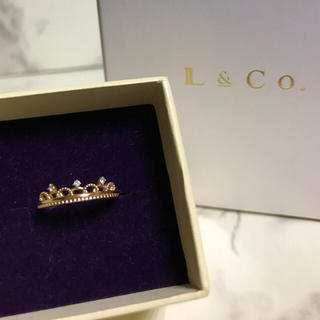 リング★ピンキー ダイヤモンド 箱 タグ付 L&Co. イエローゴールド(リング(指輪))
