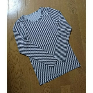 GU - GU ボーダー 長T インナー Tシャツ