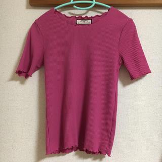 しまむら - リブTシャツ ピンク