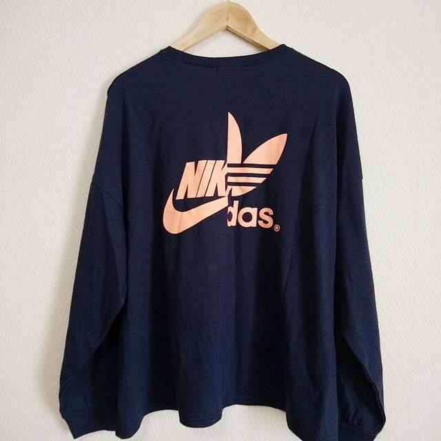 adidas(アディダス)のadidas ? NIKE ? ハーフロゴTシャツ ロンT トレフォイル レディースのトップス(Tシャツ(長袖/七分))の商品写真