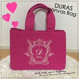 デュラス(DURAS)のDURAS♡刺繍キャンバスバッグ♡カナパ(トートバッグ)