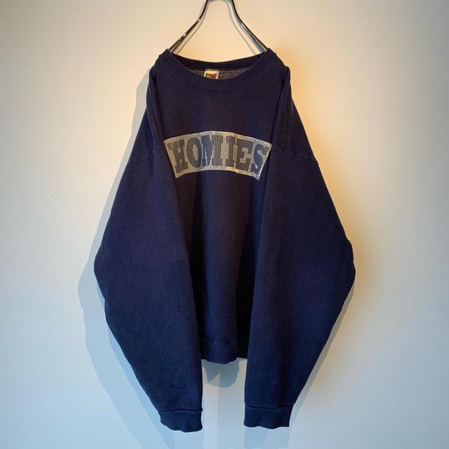 古着 フルーツオブザルーム HOMIES ビッグロゴ スウェット メンズのトップス(スウェット)の商品写真