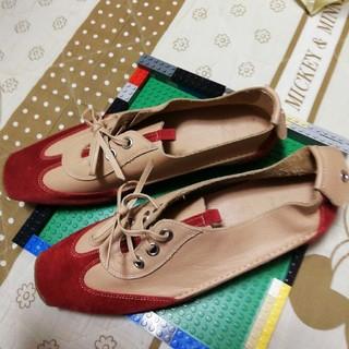 未使用の革靴25.5cmLoveMeteore(ローファー/革靴)