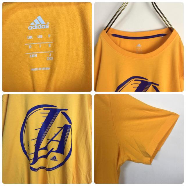 adidas(アディダス)の★アディダス★ Tシャツ NBA レイカーズ デカロゴ ビッグシルエット メンズのトップス(Tシャツ/カットソー(半袖/袖なし))の商品写真