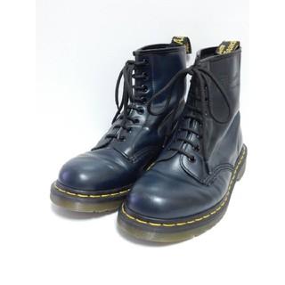 ドクターマーチン(Dr.Martens)のレアカラー!美品!【定価¥25920】ドクターマーチンUK6ネイビー8ホール紺(ブーツ)