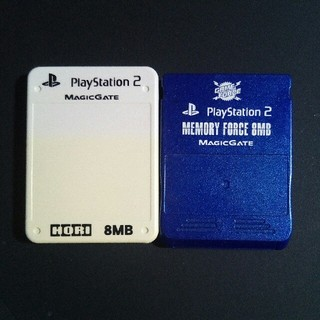プレイステーション2(PlayStation2)のホリ 互換PS2用メモリーカード2個セット(家庭用ゲーム本体)