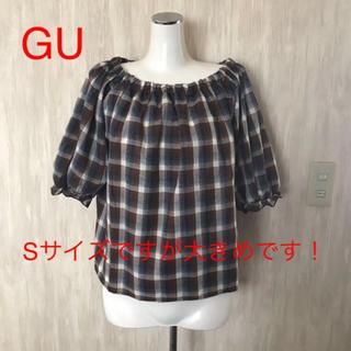 ジーユー(GU)のGU⭐️ちょうちん袖が可愛いブラウス(シャツ/ブラウス(半袖/袖なし))