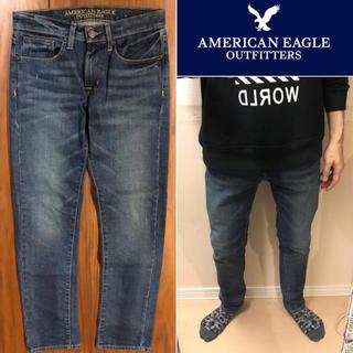 アメリカンイーグル(American Eagle)のAMERICAN EAGLEダメージジーンズダメージデニムメンズ送料込(デニム/ジーンズ)