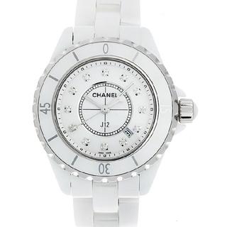 d81dff18bd17 シャネル(CHANEL)のシャネル J12 白セラミック 12Pダイヤ H1628 レディース(腕時計)