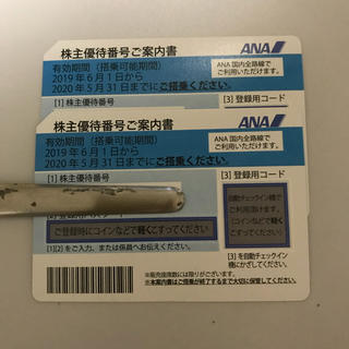 エーエヌエー(ゼンニッポンクウユ)(ANA(全日本空輸))のANA株主優待 2枚(その他)