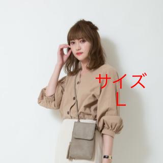 ジーユー(GU)の新品★GU フロントボタンブラウス Lサイズ(シャツ/ブラウス(長袖/七分))