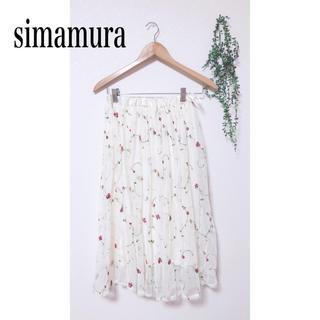 しまむら - しまむら 花刺繍チュールスカート