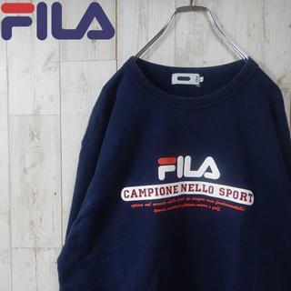 フィラ(FILA)のフィラ 90s ビッグロゴ スウェット L ネイビー(スウェット)