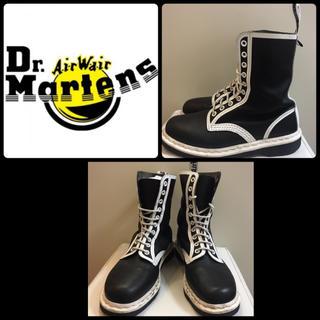 ドクターマーチン(Dr.Martens)のドクターマーチン ネイビーレザー 8ホールブーツ(ブーツ)