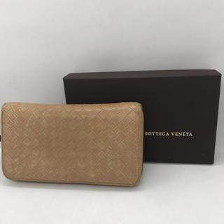 ボッテガヴェネタ(Bottega Veneta)のボッテガヴェネタ イントレチャート ラウンド 長財布 ベージュ(財布)