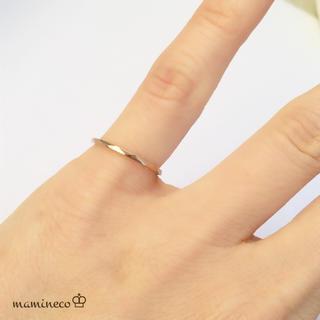 1号サイズ ステンレス製 ピンクゴールドリング  カットタイプ 指輪(リング(指輪))