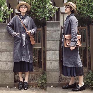 Y's - 日本製ワイズ ヨウジヤマモト ネイビープリーツ切り替えロングワンピース17AW