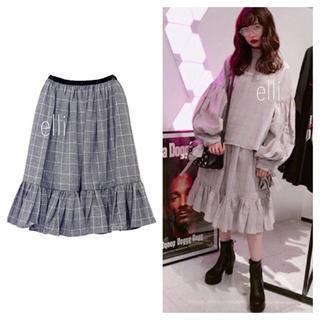 ハニーミーハニー(Honey mi Honey)のグレンチェックボリュームスカート♡(ひざ丈スカート)