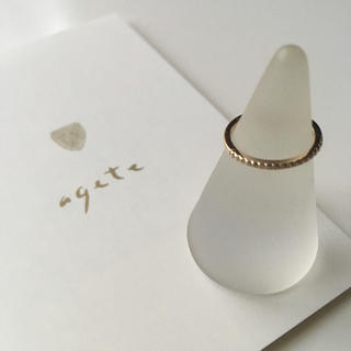 アガット(agete)のアガット ハーフエタニティ ピンキーリング K10(リング(指輪))